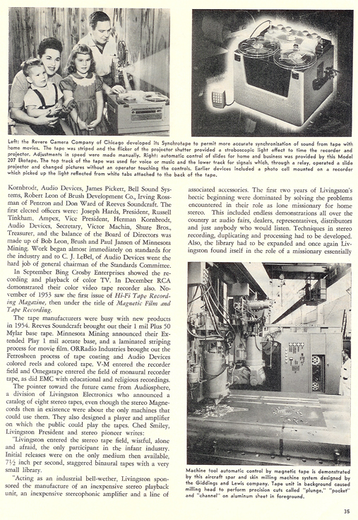 History of reel to reel tape recording up to 1958 page 15