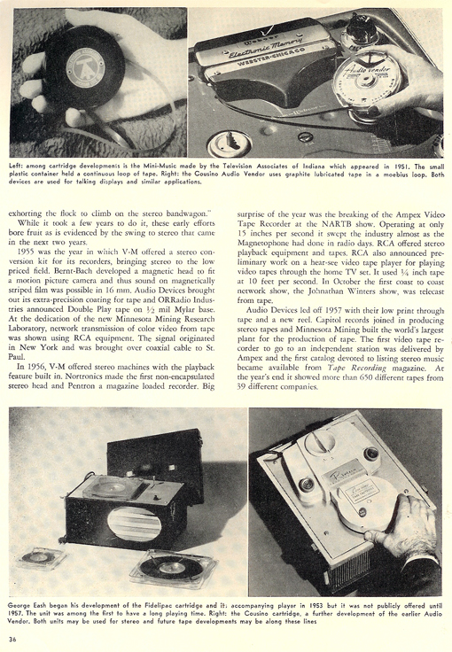 History of reel to reel tape recording up to 1958 page 16