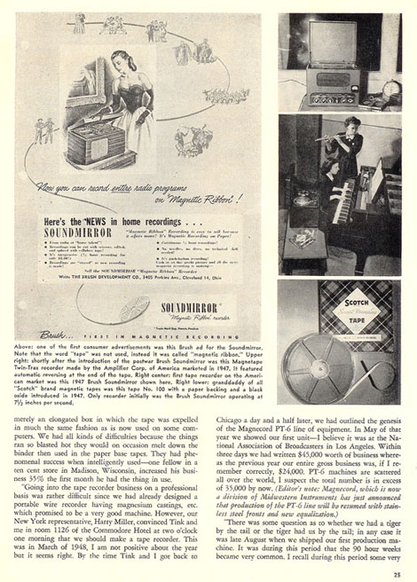 History of reel to reel tape recording up to 1958 page 5