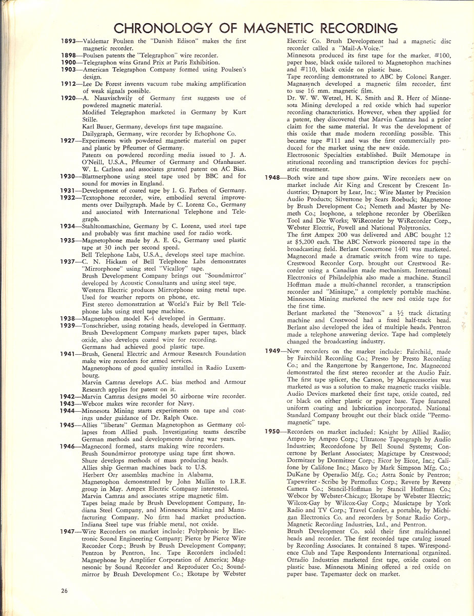 History of reel to reel tape recording up to 1958 page 6