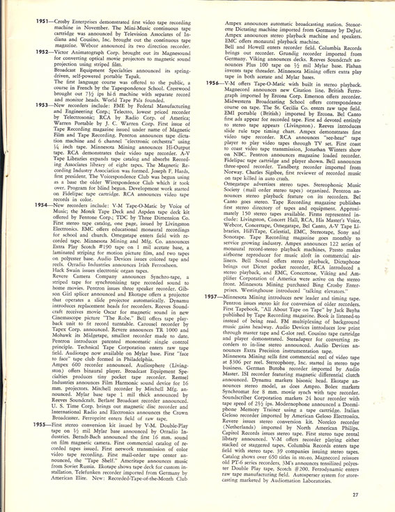 History of reel to reel tape recording up to 1958 page 7