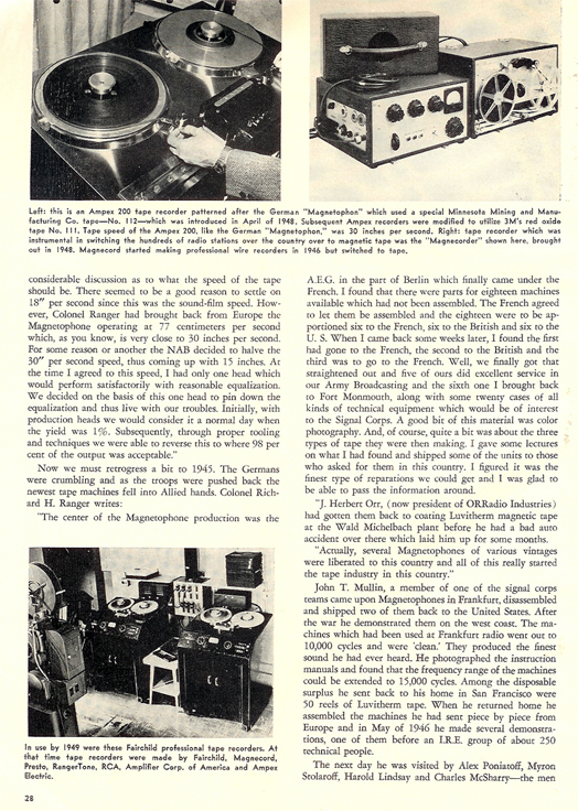 History of reel to reel tape recording up to 1958 page 8