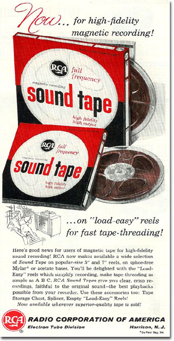 RCA ad in the reel2reeltexas.com/Museum of Magnetic Sound Recording Museum vintage reel tape recorder recording collection