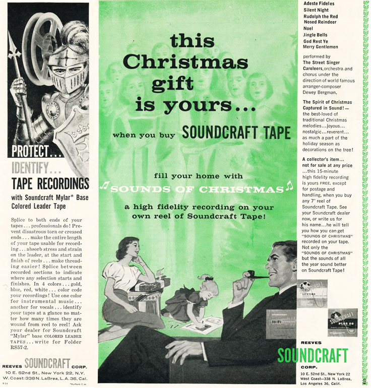 1958 Soundcraft ad  in the Reel2ReelTexas.com vintage reel tape recorder recording collection