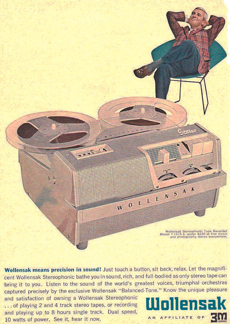 Wollensak ad  in the Reel2ReelTexas.com vintage reel tape recorder recording collection