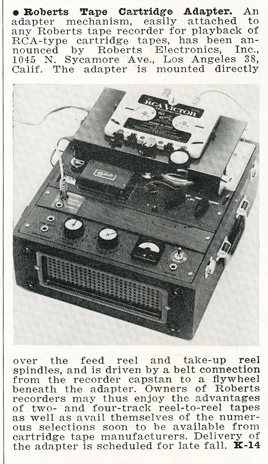 1959 ad for Roberts Recorder reel to reel tape recorders in the Reel2ReelTexas.com & Museum of Magnetic Sound Recording vintage recording collection