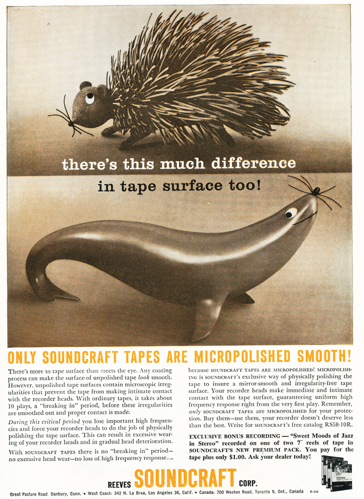 1959 Soundcraft ad  in the Reel2ReelTexas.com vintage reel tape recorder recording collection