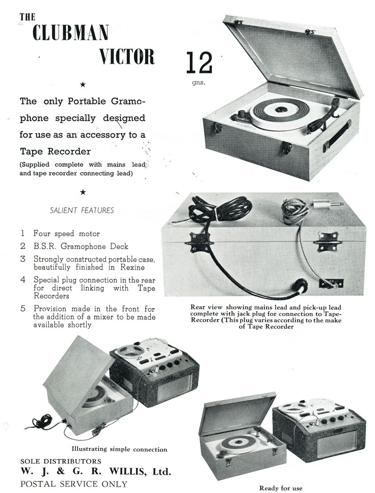 1958 Spectone tape recorder ad in the Reel2ReelTexas.com - Museum of Magnetic Sound Recording  vintage reel tape recorder recording collection