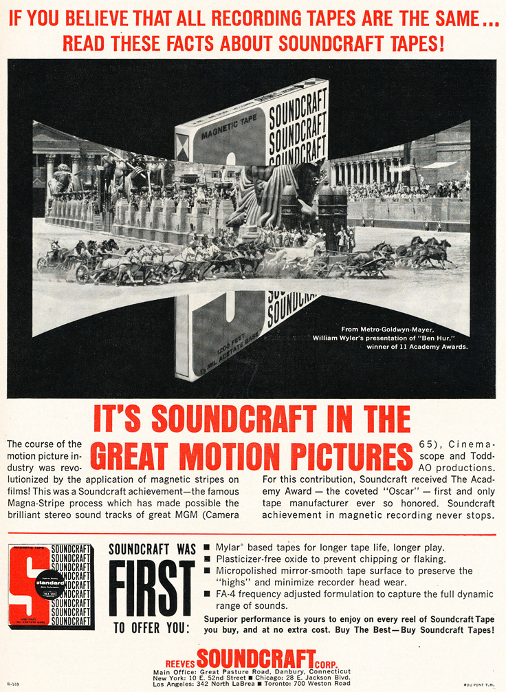 1961 Soundcraft ad  in the Reel2ReelTexas.com vintage reel tape recorder recording collection