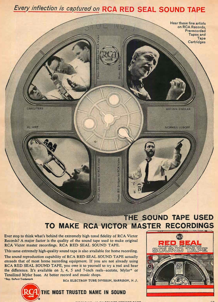 RCA ad in the reel2reeltexas.com/Museum of Magnetic Sound Recording Museum vintage recording collection