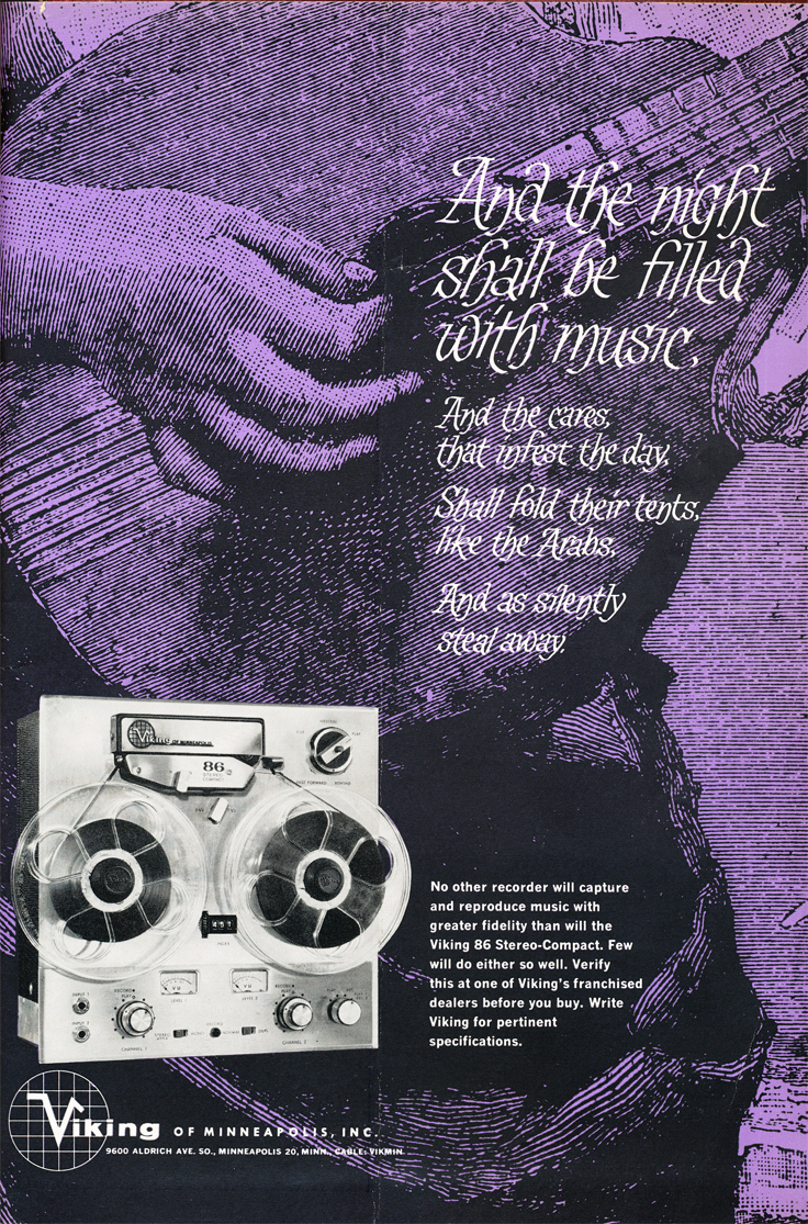 1962 ad for Viking reel to reel tape recorders in the Reel2ReelTexas.com vintage recording collection