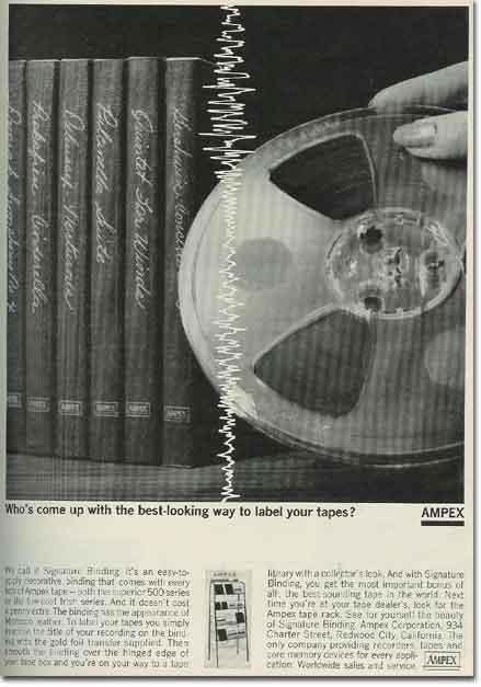 1970 ad for Ampex pre-recorded tapes in the Reel2ReelTexas.com vintage recording collection