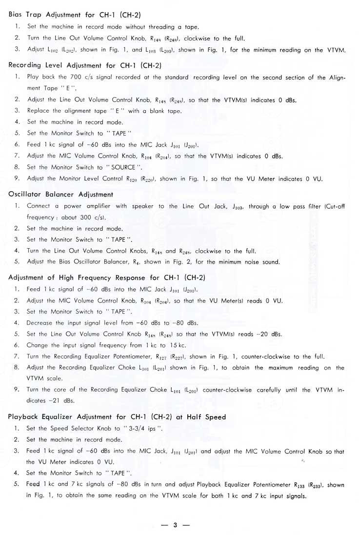 1963 service manual pages for the Sony 600 reel tape recorder in Reel2ReelTexas.com's images/R2R/vintage recording collection