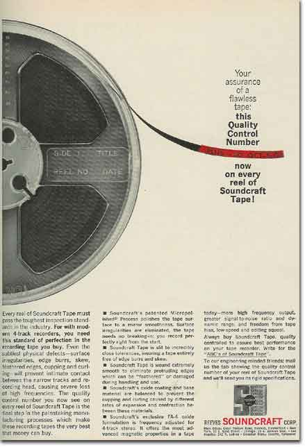 1963 Soundcraft ad  in the Reel2ReelTexas.com vintage reel tape recorder recording collection