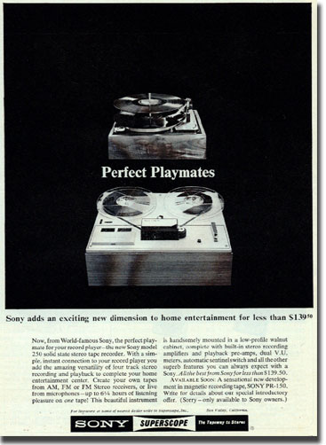 picture of 1964 Sony ad