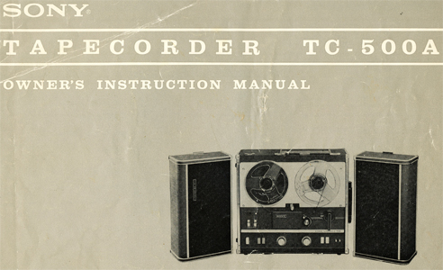 1964 Sony TC-500A manual  in Reel2ReelTexas.com's images/R2R/vintage reel tape recorder collection