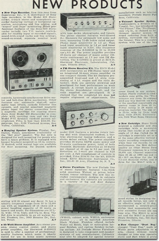picture of a 1964 Sony 600 recorder new product announcement