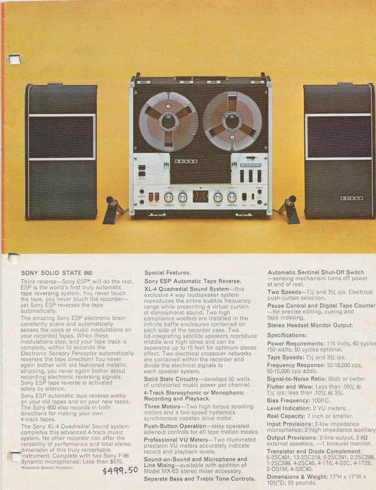 1964 Sony Tape Recorder Catalog in Reel2ReelTexas.com's images/R2R/vintage reel tape recorder collection