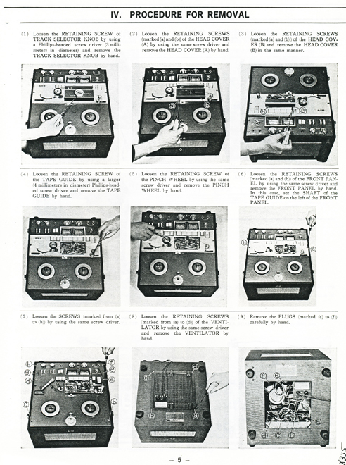 1965 Akai 355X service manual pages in Reel2ReelTexas.com vintage reel to reel tape recorder collection