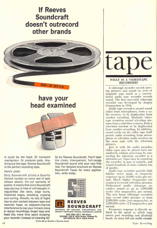 1965 Soundcraft ad  in the Reel2ReelTexas.com vintage reel tape recorder recording collection