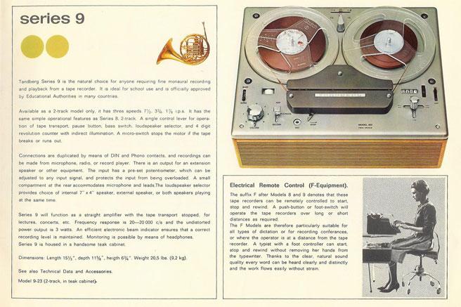 Reel to Reel Tape Recorder Manufacturers - Tandbergs Radiofabrikk