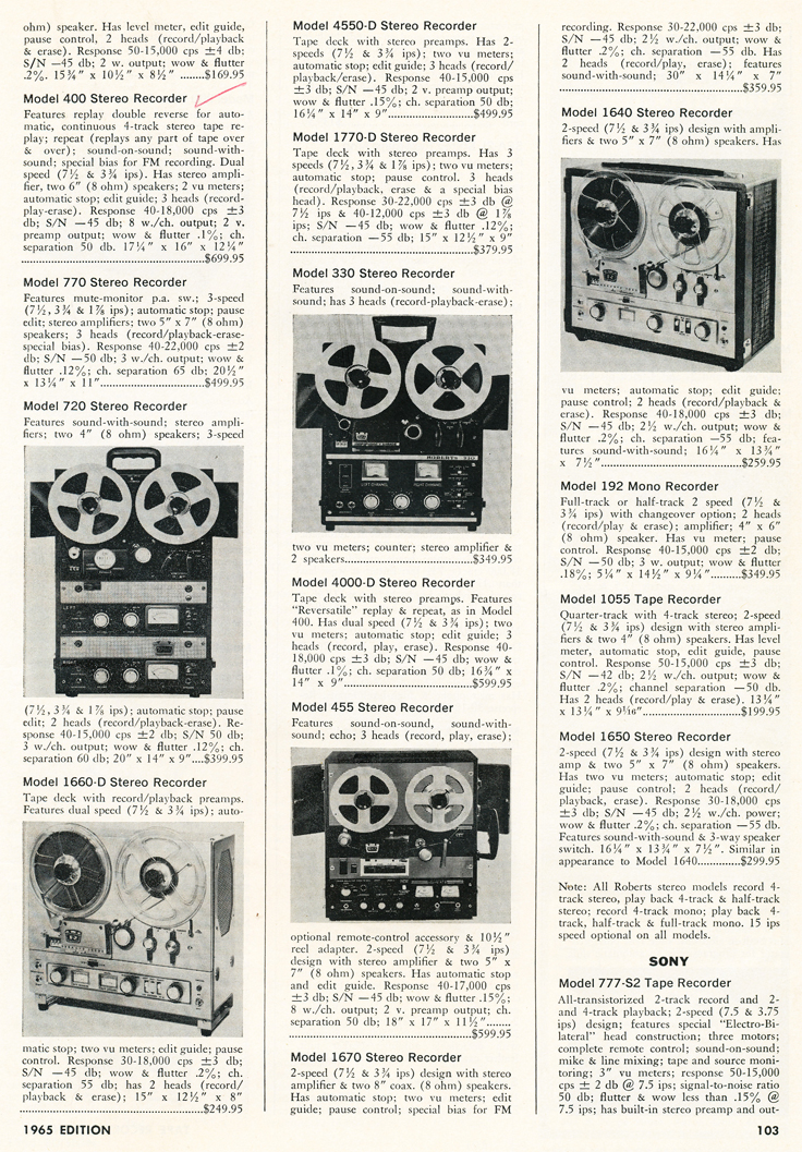 1965 Hi Fi Stereo review Tape Recorder Annual Directory