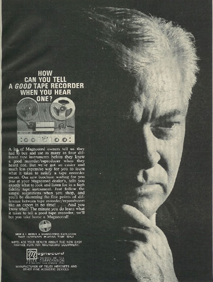1966 ad for Magnecord reel to reel tape recorders in the Reel2ReelTexas.com vintage recording collection