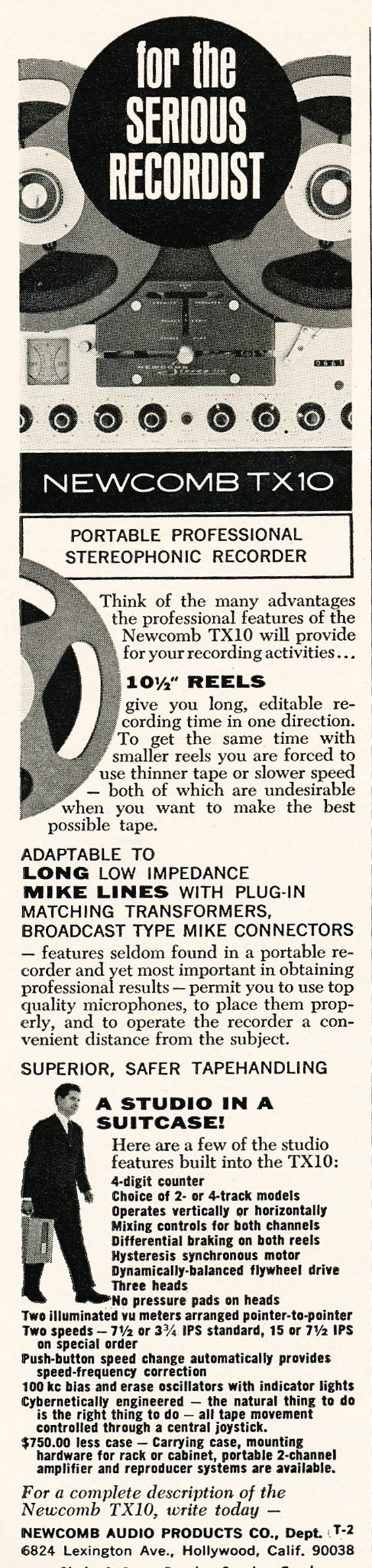 KLH Model 40 tape recorder photo  in the Reel2ReelTexas.com vintage recording collection