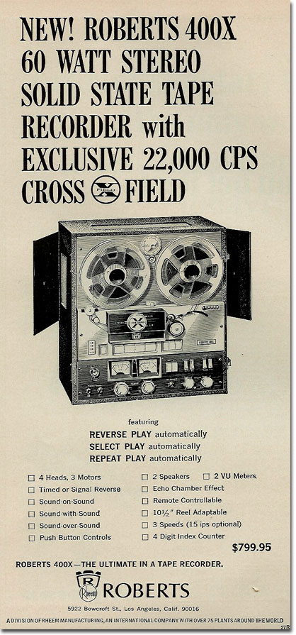 picture of 1966 Roberts 400X ad