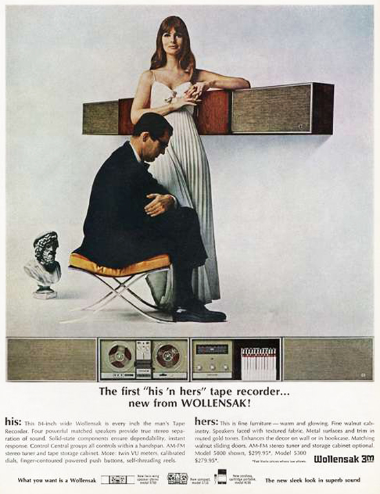 1966 3M Wollensak reel to reel tape recorder ad in the Reel2ReelTexas.com vintage recording collection