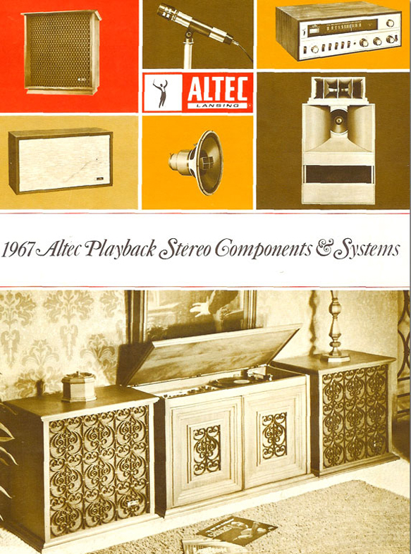 1967 cover of a brochure for Altec speaker systems and audio components in the Reel2ReelTexas.com vintage recording collection