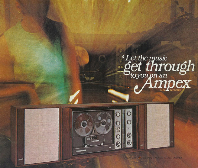 1967 ad for Ampex reel to reel tape recorders in the Reel2ReelTexas.com vintage recording collection