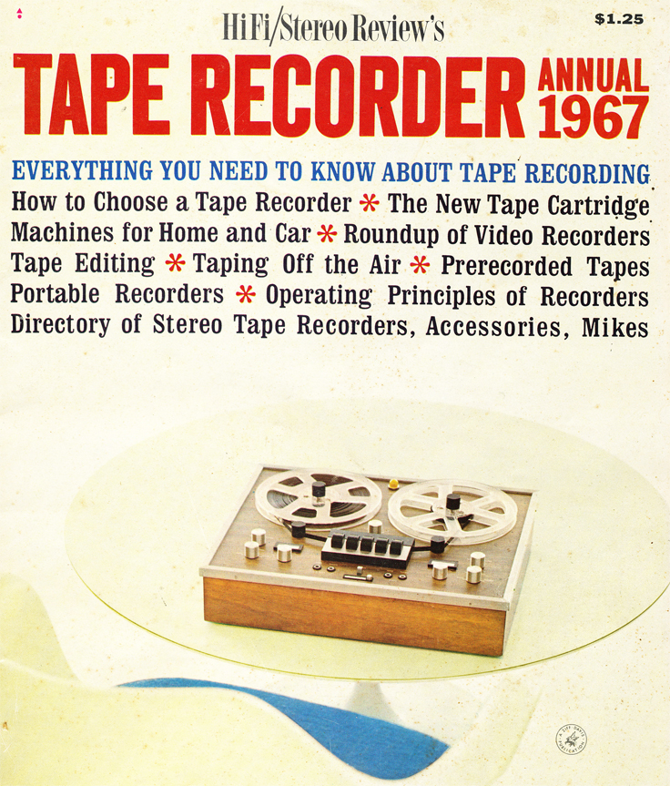 1967 cover of the 1967 HiFi/Stereo Review magazine's Tape Recorder Annual in the Reel2ReelTexas.com vintage recording collection