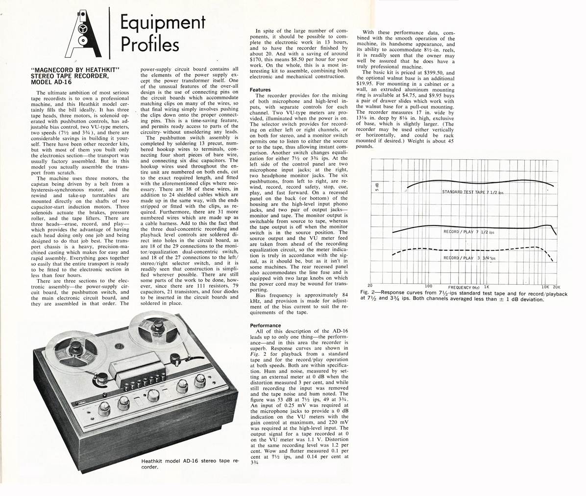 Magnecord HeathKit 1020 reel to reel tape recorder review in the rel2ReelTexas vintage recording collection