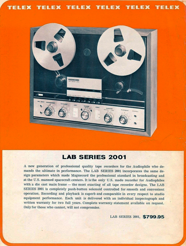 1967 ad for the Magnecord reel to reel tape recorder in the Reel2ReelTexas.com MOMSR vintage recording collection