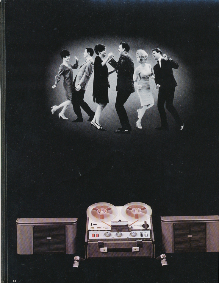 1967 Sony brochure page featuring the Sony 230 reel to reel tape recorder in the Reel2ReelTexas.com vintage recording collection