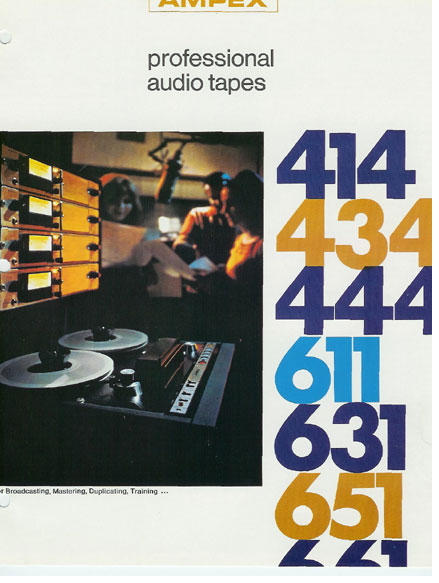 Ampex studio recording tape ad in the Reel2ReelTexas.com vintage recording museum