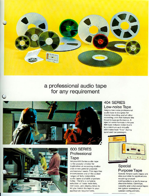 1968 Ampex reel to reel tape ad in the Reel2ReelTexas.com vintage recording collection