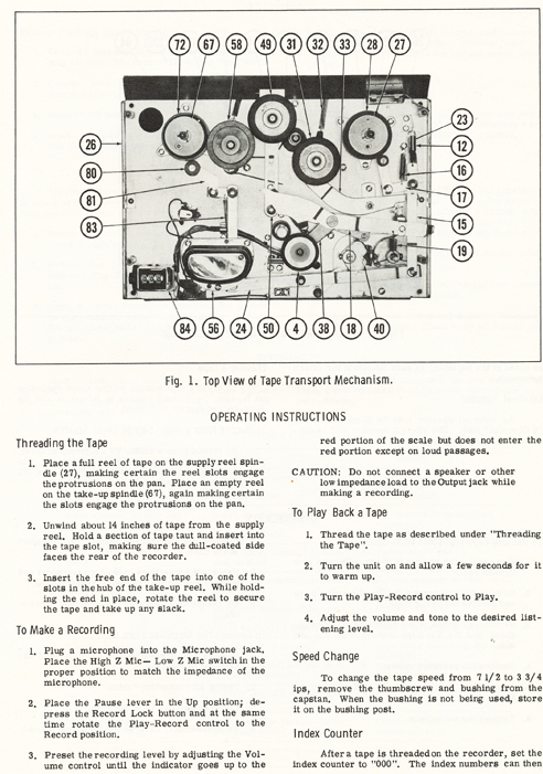 1968 manual for the Roberts 192FT reel tape recorder in Reel2ReelTexas.com vintage tape recording collection
