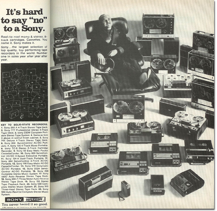 1968 Sony tape recorder ad
