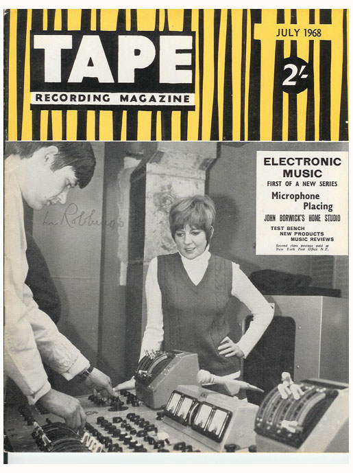 July 1968 cover of the Tape Recording magazine in the Reel2ReelTexas.com vintage recording collection