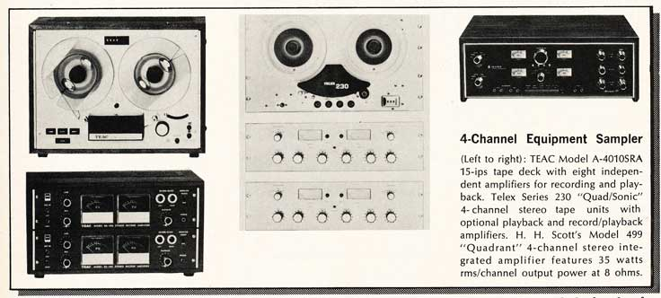 4 channel recorders available in 1969