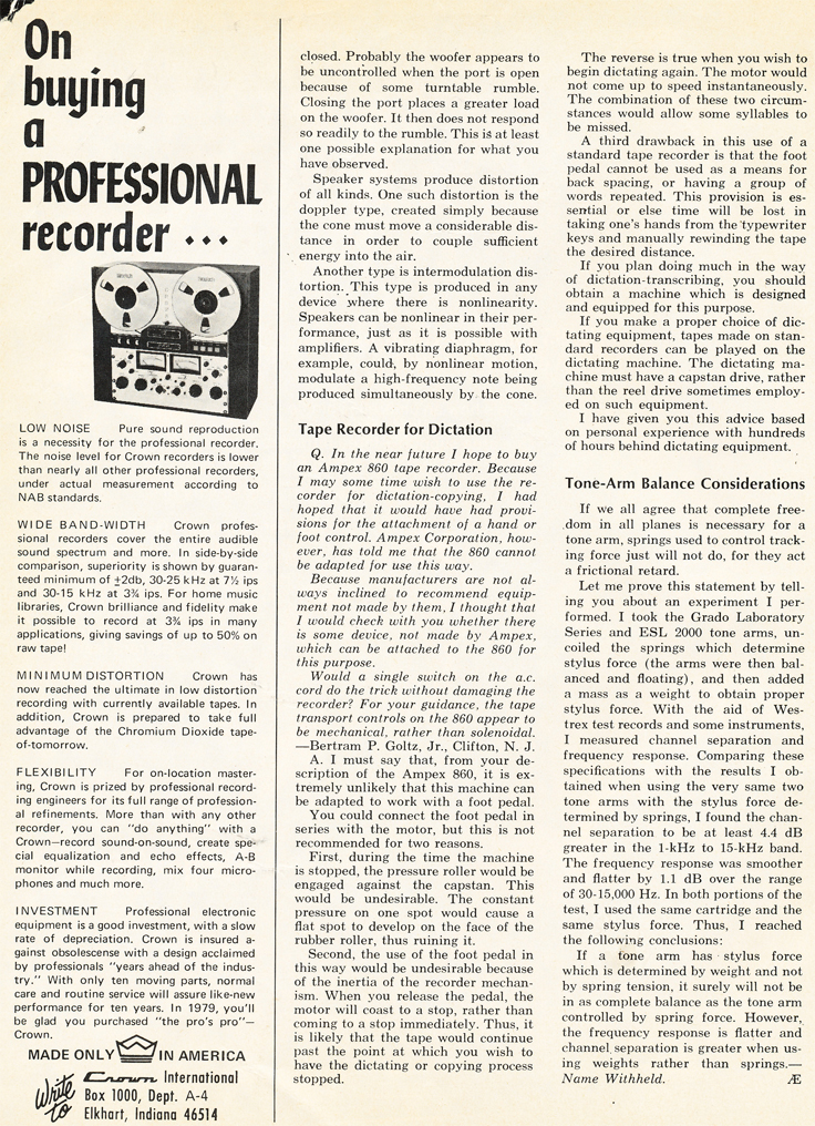 1969 review of the Sony TC-666D in Reel2ReelTexas.com's images/R2R/vintage recording collection