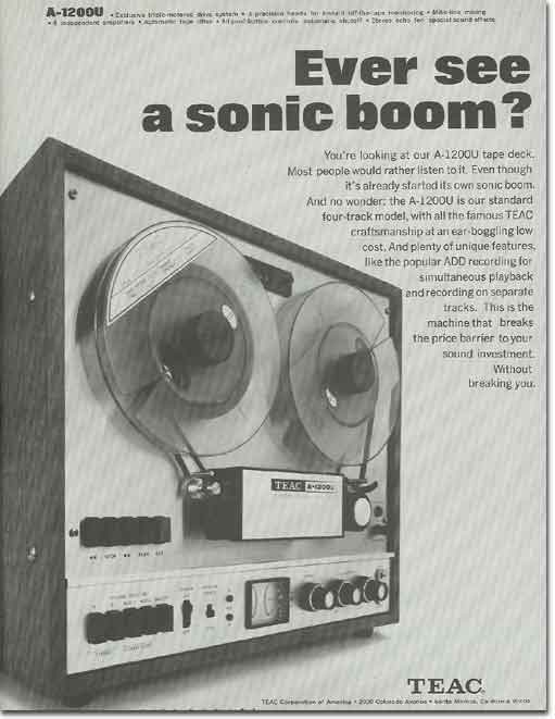 1969 Teac tape recorder ad in the Reel2ReelTexas.com vintage recording collection