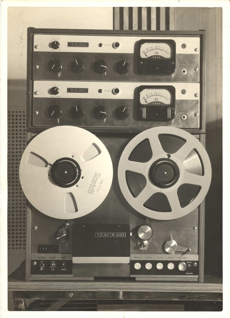 Teac Model R340 reel to reel tape recorder ad in the Reel2ReelTexas.com vintage recording collection