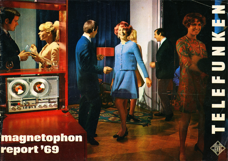 1969 ad for Telefunken  reel to reel tape recorders in the Reel2ReelTexas.com vintage recording collection
