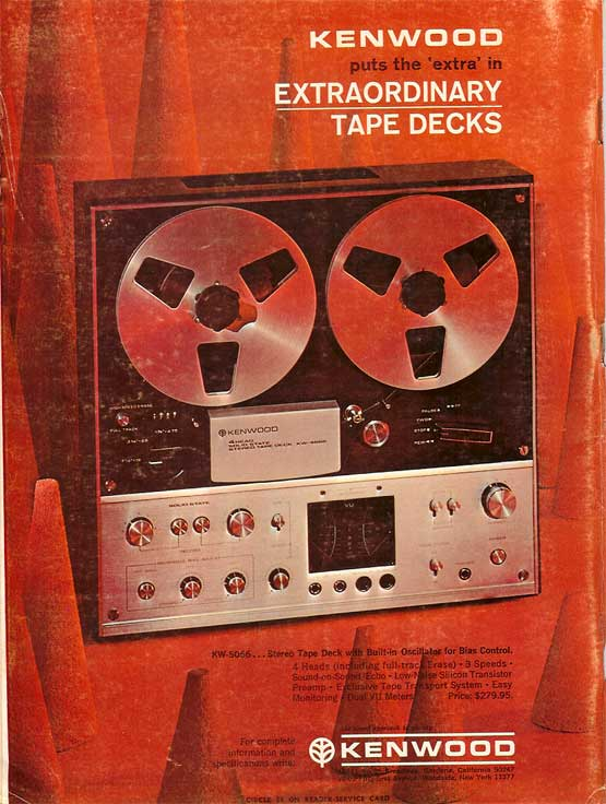 1970 ad for the Kenwood reel to reel tape recorder  in the Reel2ReelTexas.com vintage recording collection