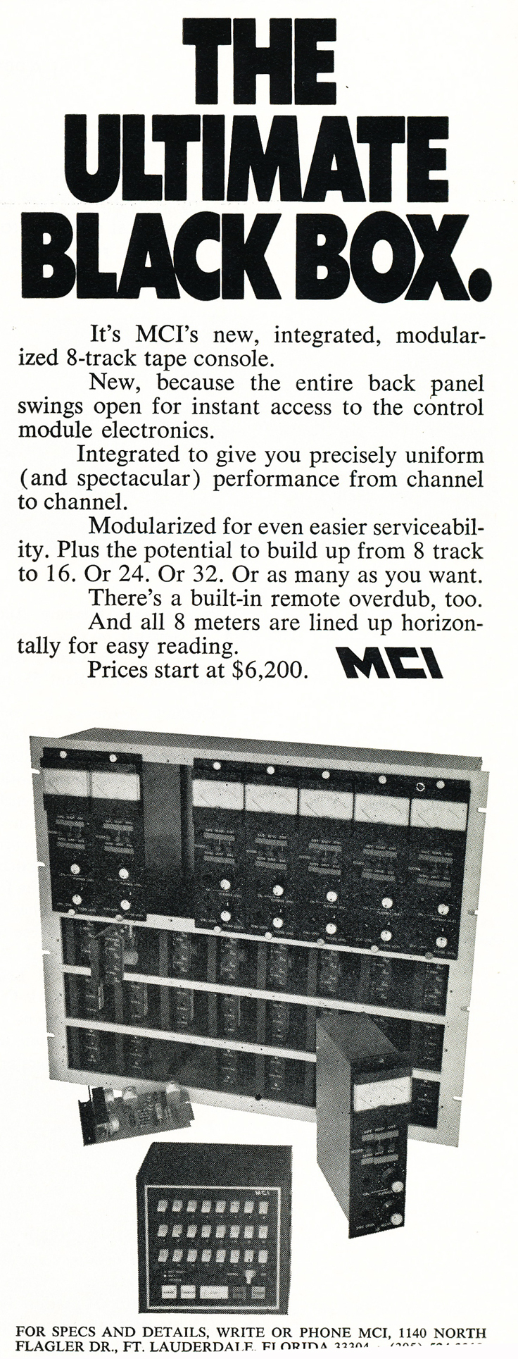 1970 ad for the MCI professional reel to reel tape recorders in the Reel2ReelTexas.com vintage recording collection