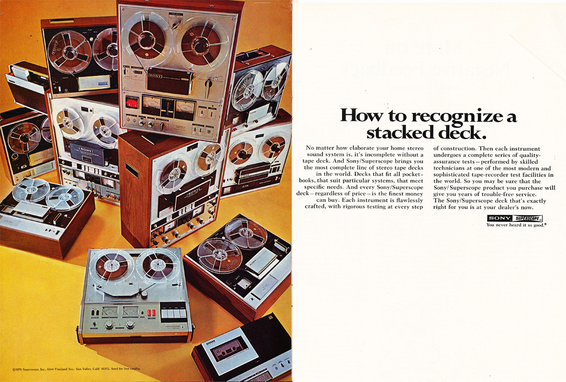 1971 ad for Sony reel to reel tape recorders in the Reel2ReelTexas.com vintage recording collection