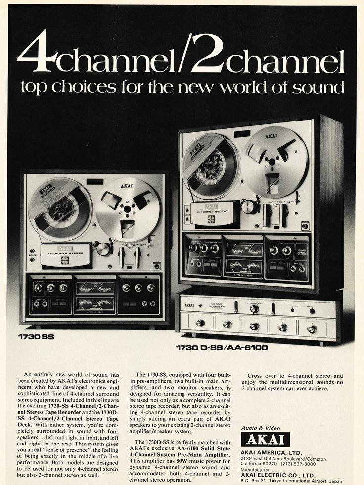 Akai reel to reel tape recorder ad in the Reel2ReelTexas.com vintage reel tape recorder recording collection
